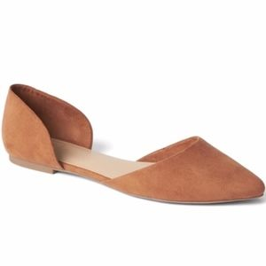 Gap Vegan Pointed Toe D'Orsay Flats Slip On Shoes